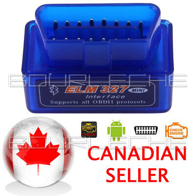 2020 ANDROID PC Mini ELM327 OBD2 OBDII Bluetooth Adapter Auto Scanner TORQUE