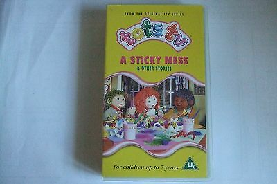 Tots Tv A Sticky Mess VHS Video