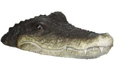 Pond Crocodile Head Decor Water Feature Floating Fish Pond New Free UK Post