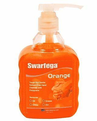 Swarfega Home Workshop Garage Handwash Cleaner Pump Bottle - 450ml - Orange
