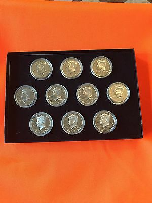 Kennedy Proof Set 2002-2011 Great Uncirculated Pristine All Coins Cased