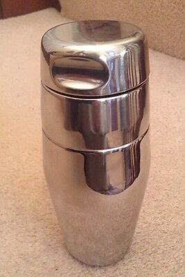 Vintage Bright Stainless Steel Alfra Alessi Italy Cocktail Shaker Wine Bar Party