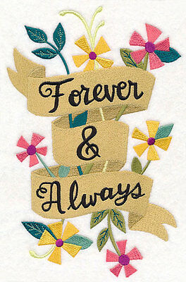 Large Embroidery quilt block,cushion panel,wall art, machine,quilt,forever,love