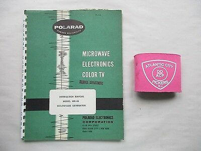 Polarad Model Mp-1A Multipulse Generator Instruction Manual