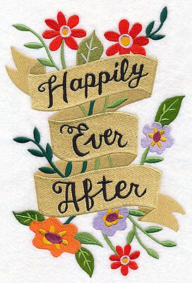 Large Embroidery quilt block,cushion panel,wall art, machine,,happy ever after