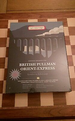 Classic Dining moments Dinner Abroad The British Pullman orient-express SEALED