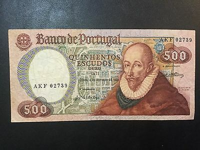 1979 Portugal Paper Money - 500 Escudos Banknote!