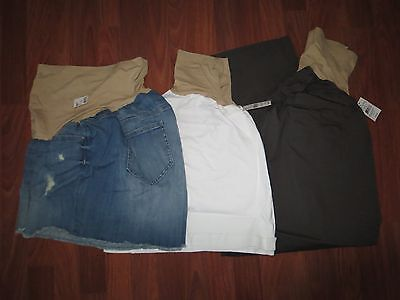NWT LOT 3 Oh Baby womens maternity shorts pants black secret fit belly 3x plus