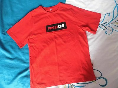 COMIC RELIEF RED NOSE DAY 03 RND03 (2003) RED T-SHIRT age 7-8 *RARE*
