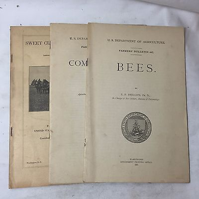BEES COMB HONEY & CLOVER Farmers Bulletin 1917 U.S. Dept of Agriculture Booklets