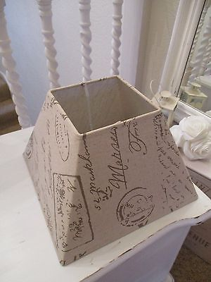 Lamp Light Shade Shabby Chic Vintage Beige Scribble