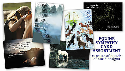 12 Assorted Equine Horse Sympathy Cards veterinarian farrier rescue