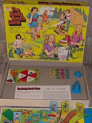 Vintage & Mega Rare 1973 The Brady Bunch Game In Box Tv Toy By Whitman