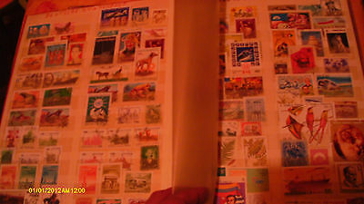 Large stamp collection in album stamps , blocks, sheets varied world lot