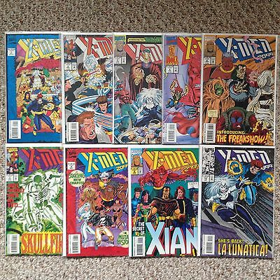 X-Men 2099 Lot Of 9 Comic Books, #1 2 4 5 6 7 8 9 10, NM-