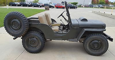 1951 Willys M38 Jeep and trailer