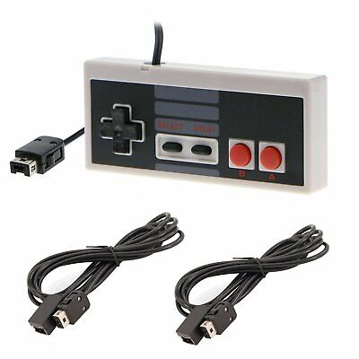 Game Controller+2 PCS Extension Cable for Nintendo NES Mini Classic Edition NEW