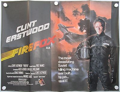 Firefox Clint Eastwood Vintage 1984 Original UK Quad Poster