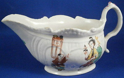 Rare 18thC Christian Philip Liverpool Porcelain Chinoiserie Sauceboat Gravy Dish