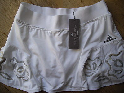 Adidas by Stella McCartney Barricade Tennis Rock Climalite Neu weiß Skirt M 38