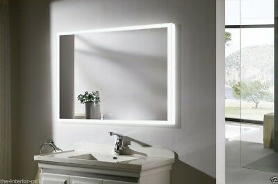 "LED Lighted Bathroom Vanity Mirror with Modern Touch- Munich II - 39.4"" x 31.5"""