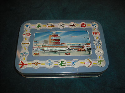 thornes toffee tin airlines of the world c 1950s. rare.