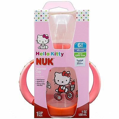NUK Hello Kitty Silicone Spout Learner Cup, 5 Ounce Baby And Toddler 62757
