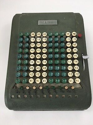 Vintage 1920s Comptometer Felt And Tarrant  Calculator Mechanical Adding Machine