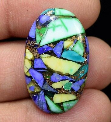 18.35  Cts.  Natural  Colorful  Copper  Howlite  Oval  Cab Loose  Gemstones