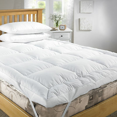 Duck Feather Down White Orthopaedic Mattress Topper Cover 5cm Depth All Sizes