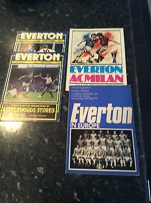 4 X English V Foreign Games From 1970 To 1978, Everton Homes In Europe