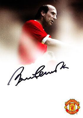 Bobby Charlton Signed Autograph Official Manchester United Club Card