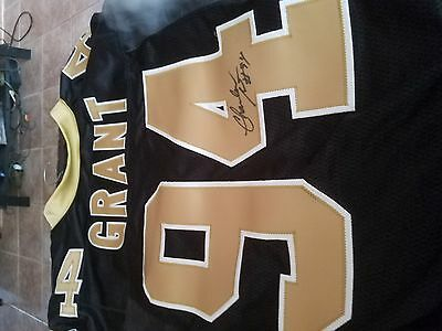 charles grant new orleans saints game used jersey