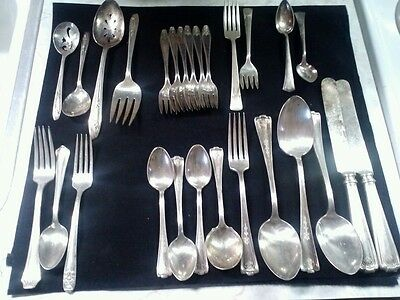 Mixed Lot Antique Silver Plate Flatware