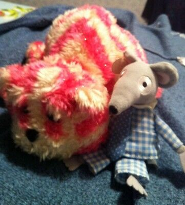 Collectable Yawning Bagpuss 1999 And Charlie Mouse 2001 Golden Bear