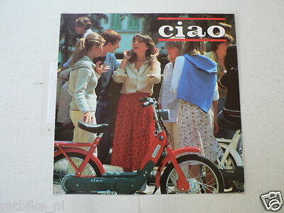 D882 Brochure Vespa Ciao Bromfiets Moped Dutch 6 Pages Folded 1981 ?