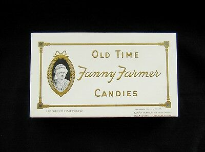 Vintage Old Time Fanny Farmer Candies Box Half Pound Graphics