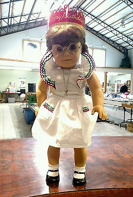 """American Girl Molly Birthday Locket Pleasant Company Retired 18"""" Outfit"""