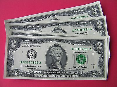 2009 Series A $2 bill two dollar bank note Federal Reserve USA uncirculated gift