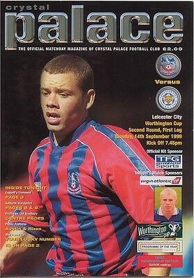 CRYSTAL PALACE v LEICESTER CITY LEAGUE CUP 2ND RND 1999