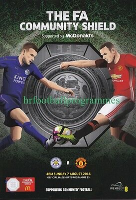 LEICESTER CITY v MANCHESTER UNITED COMMUNITY SHIELD FINAL 2016
