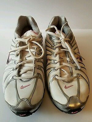 Nike Air Max Girls size 4.5Y Pink/Black/White and Gray Shoes