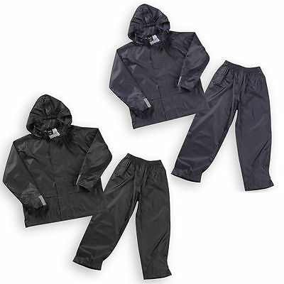Boys Kids Waterproof Coat Jacket Top Trousers Pants Outdoor Parka Mac Raincoat