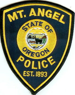 MT. Angel Police  OREGON patch NEW