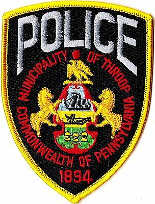 Municipality of Throop Police Commonwealth of Pennsylvania PA patch NEW
