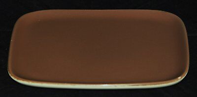 Poole Pottery Serving Dish or Butter Pat, Twintone Sepia Colour, Good Condition