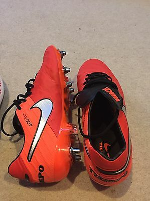 football boots Nike Tiempo Legend VI, red personalised , Size 9,5 UK