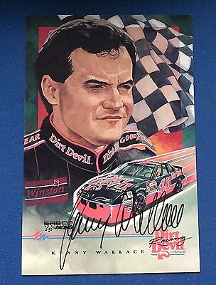 Kenny Wallace Autographed Signed Dirt Devil Photo NASCAR