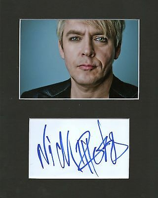 Nick Rhodes hand signed autograph IN PERSON - 10x8 card photo mount  Duran Duran