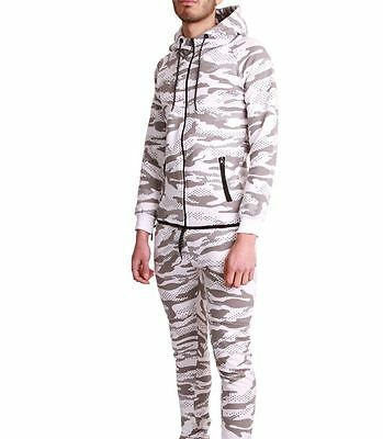 Ensemble Survêtement Jogging Tech Cabaneli Camo Blanc